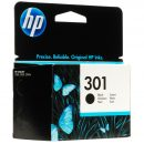 HP CARTUCCIA ORIGINALE N° 301 NERO 9ML CH561EE