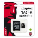 KINGSTON MICRO SD 16GB CL10 CANVAS SELECT SDCS/16GB