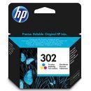HP CARTUCCIA ORIGINALE 302 COLORI 4ML F6U65AE
